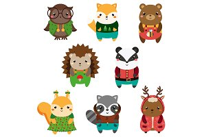 Cute forest anomals icons