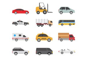 12 Transport Types Icons