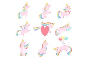 Lovely unicorn set, cute fantasy