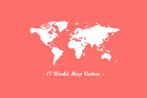 17 World Map Vectors