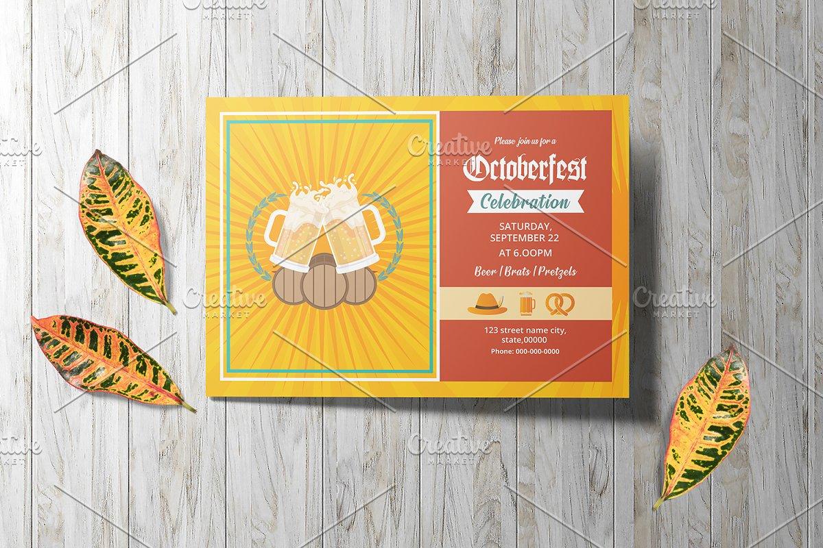 Oktoberfest Invitation Flyer V849