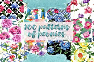 Wonderful 100 patterns of peonies