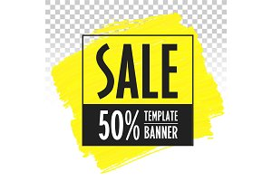 Advertising banner template sale