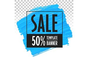 Banner template for sales