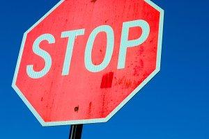 Stop Sign up-close