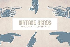 32 Vintage Hand Illustrations