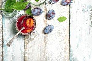 Plums jam Fruit marmalade