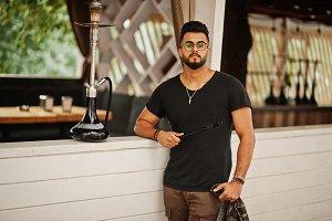 Stylish beard arabian man in glasses