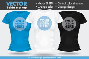 Vector T-shirt Template Mock-up