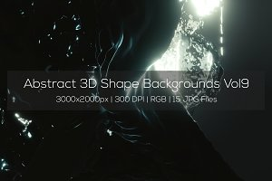 Abstract 3D Shape Backgrounds Vol9