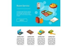 Vector hotel icons page illustration