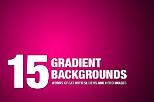 18x3 Beautiful Gradient Backgrounds