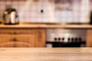 Kitchen and blur background