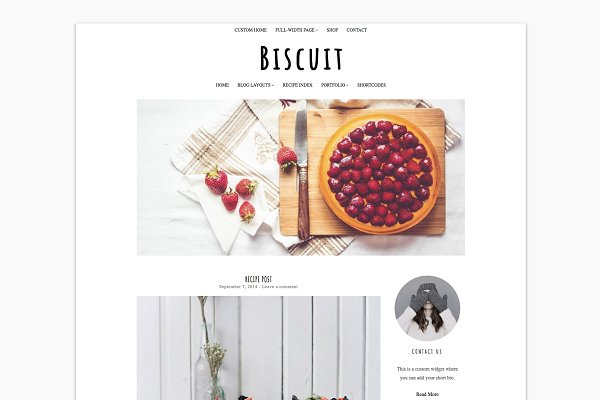Food Wordpress Theme - Biscuit