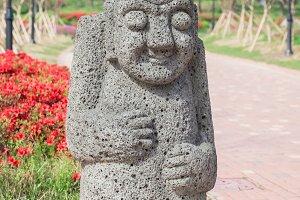 Big stone statue of hareubang Jeju i