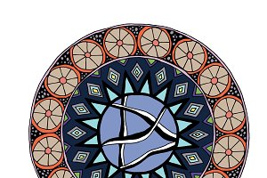 Decorative hand drawn mandala with d