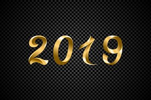 2019 golden New Year number