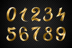 set of festive color number vector