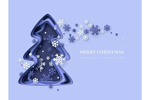 Christmas holiday background. Paper