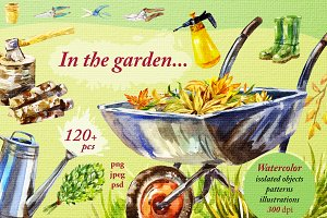'Gardening and summer rest' 120 png