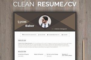 Editable Resume for Interior Designe