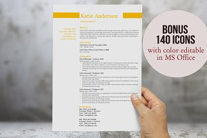 Simple 2 in 1 Word resume