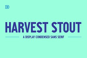 Harvest Stout - A Condensed Sans