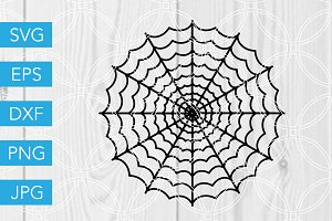 Spiderweb SVG Cut File Halloween