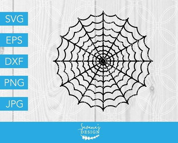 Spiderweb Svg Cut File Halloween Pre Designed Vector Graphics Creative Market