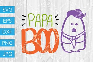 Papa Boo Ghost Halloween SVG