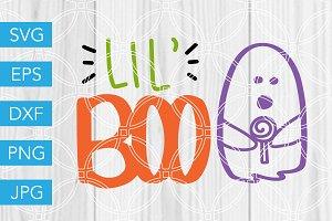 Lil Boo Halloween SVG Cut File