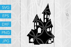 Haunted House Halloween SVG File