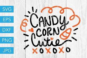 Candy Corn Cutie SVG Cut File