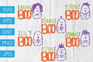 Ghost Family SVG Halloween Cut Files