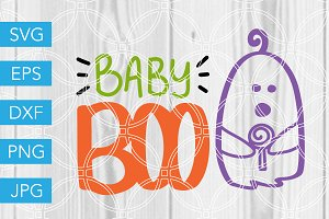 Baby Boo Ghost SVG Cut File