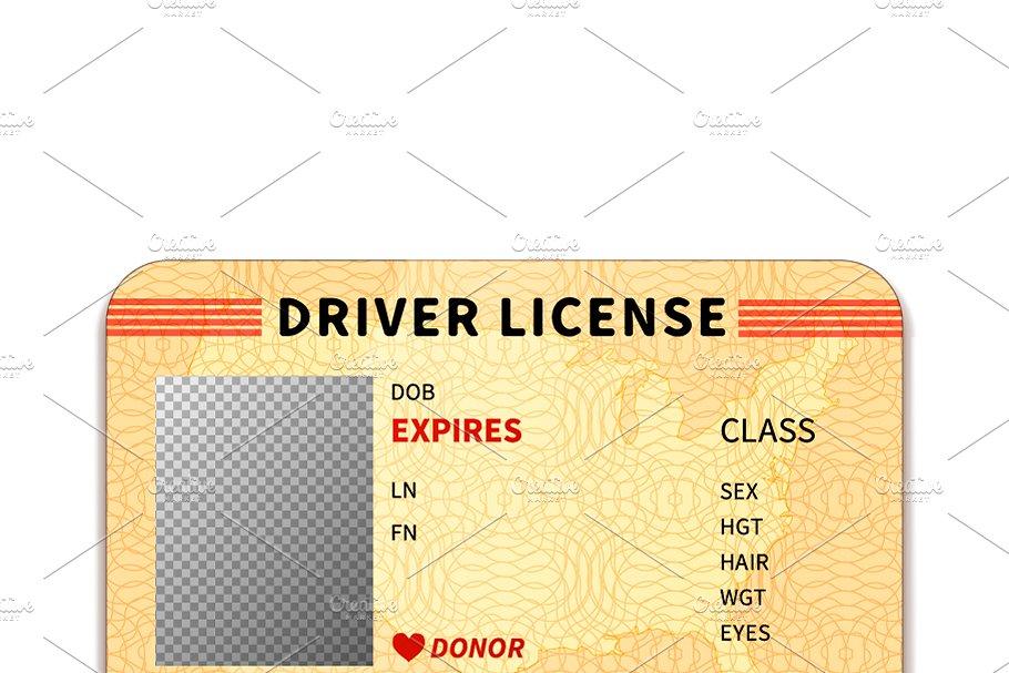 Realistic driver license