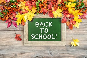 Back to school! Autumn background co