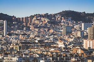 Barcelona city buildings