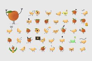40 x Peach character set