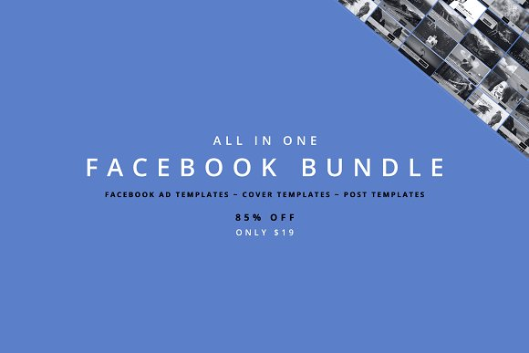All In One Facebook Bundle Facebook Templates Creative Market