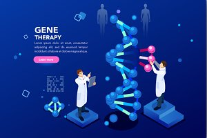 Dna Molecule Helix Blue Background