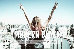 Mobile Lightroom Preset Modern Black