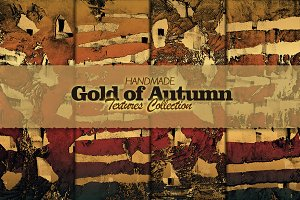 Gold of Autumn. Textures.