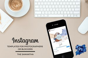 Blog Instagram Photoshop Template