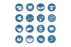 Simple Set of Diaper Vector Icons