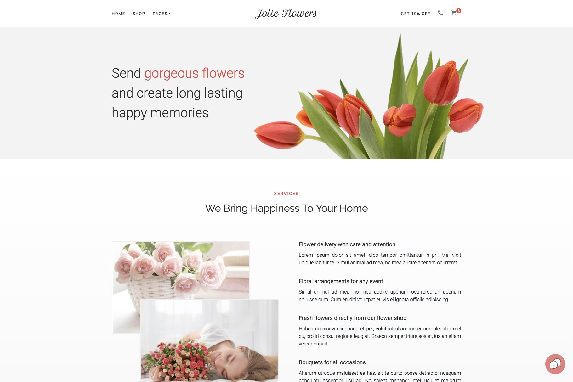 Bootstrap 4 Template For Flower Shop Bootstrap Themes Creative