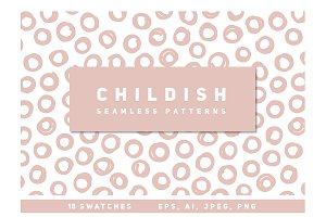 18 Childish Seamless Patterns