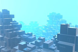 Wealth rich concept idea of blue