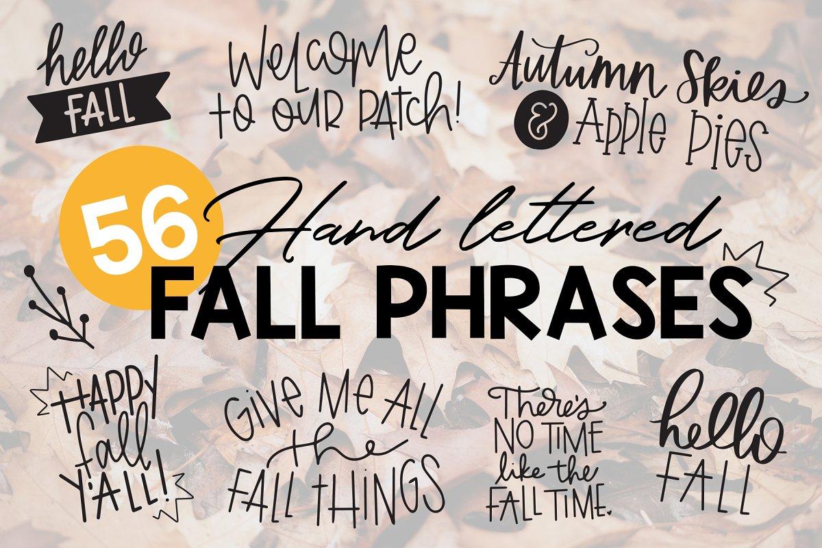 Fall Phrases Font Stunning Symbol Fonts Creative Market
