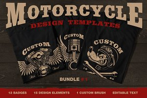 Motorcycle vector design set #1